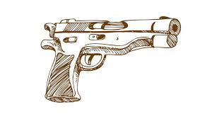 Draw Guns Step By Step On Paper Scar Assault Rifle Coloring Page