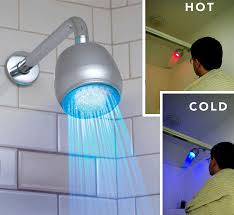 modern nice adorable cool fantastic futuristic cool shower head with  control indicator concept hot and cool