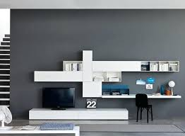 wall unit ideas for desk and tv storage wall unit i by in lacquered ash effect