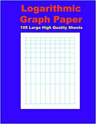 Logarithmic Graph Paper 105 Large High Quality Sheets Of