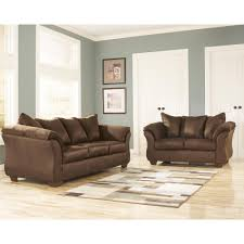 flash furniture signature design by ashley darcy 2 piece cafe fabric living room set 1109setcaf the home depot
