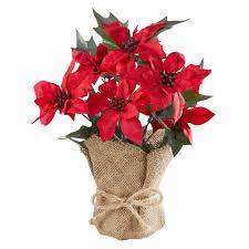 Kunstblume Weihnachtsstern 28 Cm Rot