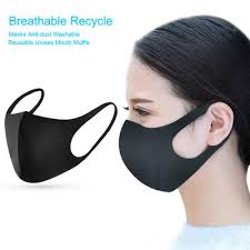 5Pcs <b>Adult</b> Dustproof <b>Face Mask Polyurethane</b> Sponge Washable ...