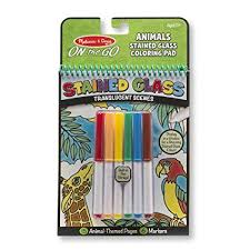 Amazoncom Melissa Doug On The Go Stained Glass Coloring Pad