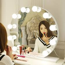 makeup mirror lighting fixtures. B-right Make Up Vanity Mirror Lights Kit Hollywood Style LED Dimmable 4 Bulbs IP44 Waterproof For Makeup Dressing Table Toilet Lighting Fixture Strip Fixtures N