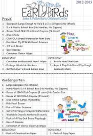 School Supply List North Elementary School Supply List