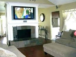 mounted over fireplace ideas mounting above the wall mount tv recessed