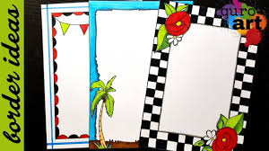 English Project Front Page Design Check Border Designs On Paper Border Designs Project