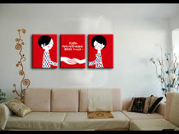 best friends interesting wall art pictures remarkable painting for living room decoration red canvas based