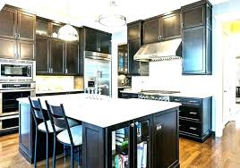 dark cabinets white countertops black kitchen cabinets mess