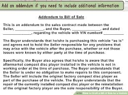 vehicle bill of sale as is how to draft a bill of sale for a vehicle with pictures