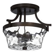 allen roth latchbury 14 33 in w aged bronze textured semi flush mount light