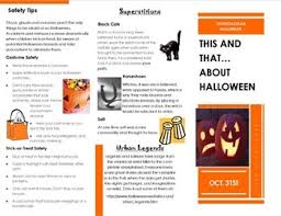 Halloween Tri Folding Brochure Project Using Publisher Template