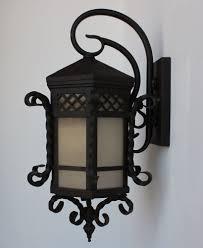 santa barbara style wrought iron outdoor exterior light lightbox moreview