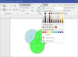 Venn Diagram Shading Generator Create A Venn Diagram Visio