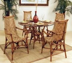rattan dining room set. tropical style dining room furniture and rattan chairs make your set