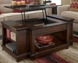 ... Coffee Table, Dark Brown Rectangle Minimalist Wood Lift Top Coffee  Tables With Storage Design: ...
