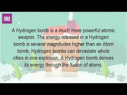 Image result for the hydrogen bomb, this new weapon was approximately 1,000 times more powerful than conventional nuclear devices