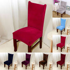4 8 chair covers removable stretch slipcovers dining room fox pile fabric seat