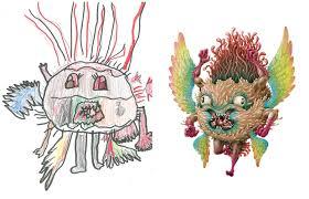 Des Artistes Recr Ent Des Dessins D Enfants De Monstres