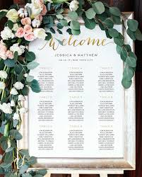 Wedding Seating Chart Wedding Seating Plan Gold Seating