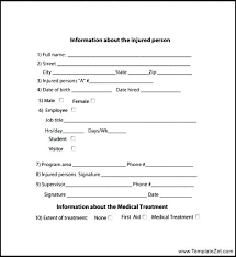 To First Aid Incident Report Form Template Example Getreach Co