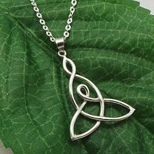 handmade silver mother child knot pendant necklace