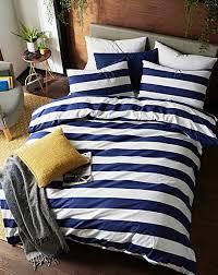 newark stripe cotton rich duvet set