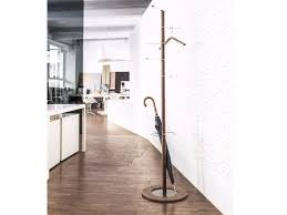 steel and wood coat stand pivot steel and wood coat rack by schönbuch