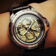 mens unique 1937 omega half skeleton vintage superb zodiac watch mens watch vintage style watch handmade style watch leather band watch automatic
