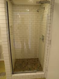 tile showers for small bathrooms. Small Bathroom Decoration Using Corner Showers Including Dark Brown Stone Tile For Bathrooms