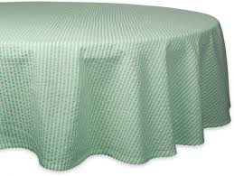 dii cotton seerer striped tablecloth weddings picnics summer parties everyday use 70 round bright green white
