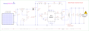pv solar inverter circuit diagram pv solar inverter circuit