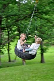image of diy kids tree swing