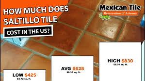 saltillo tile cost 2019 average
