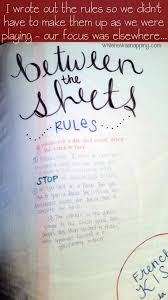 between the sheets diy bedroom game the rules
