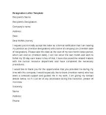 Letters Of Resignation Fascinating Template For Resignation Letters Resignation Letters Templates Word