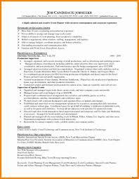 Event Planner Resume Objective Material Planner Job Description