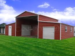 1 6x6 garage door right lean to front archives metal buildings free installation and delivery
