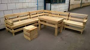 diy pallet patio furniture. Recycled Pallet Outdoor L-shape Sofa Diy Patio Furniture