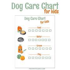 Free Printable Dog Care Chore Checklist Chart Dog Care