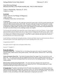 King county library system browse options. Kellogg Middle School Daily Bulletin