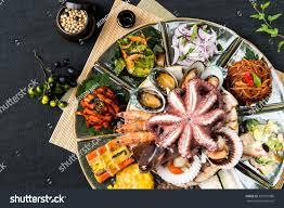 Korean Food Seafood Dishes Stock Photo ...
