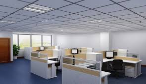 office interior colors. Office:Deligtful Office Interior Decor With Modern Cubical Table On Blue Flooring Also Corner Colors