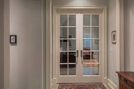 doors for office. 10-Lite Paint Grade MDF Double Door With Clear Glass For Office Entry Doors