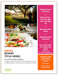 Catering Flyer Template Save Word Templates