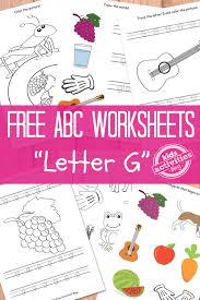 LETTER G WORKSHEETS FREE KIDS PRINTABLE | Preschool classroom ...