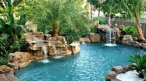 inground pool waterfalls hankgilbertcom