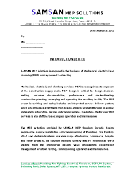 Introductory Letter Introduction Letter