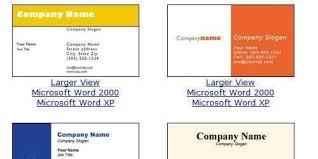Word Free Business Card Template Sdrujenie Com